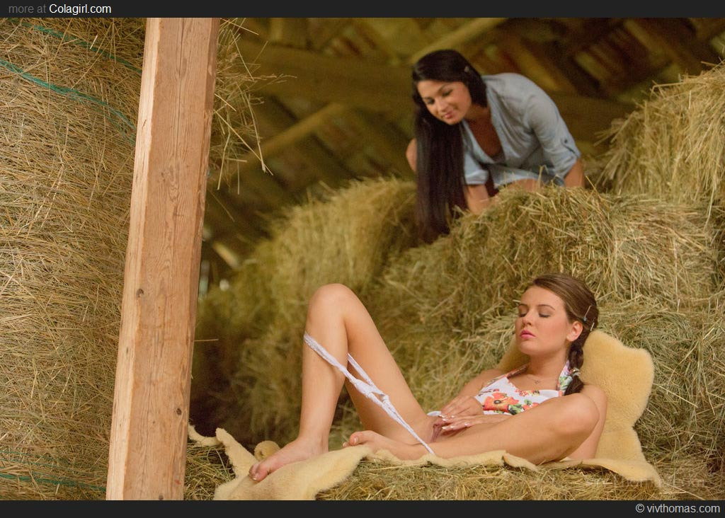 Naked Village Girls In The Hay In The Barn-5110